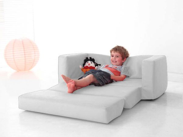 Lazy Boy Sofa kids cream flip out sofa