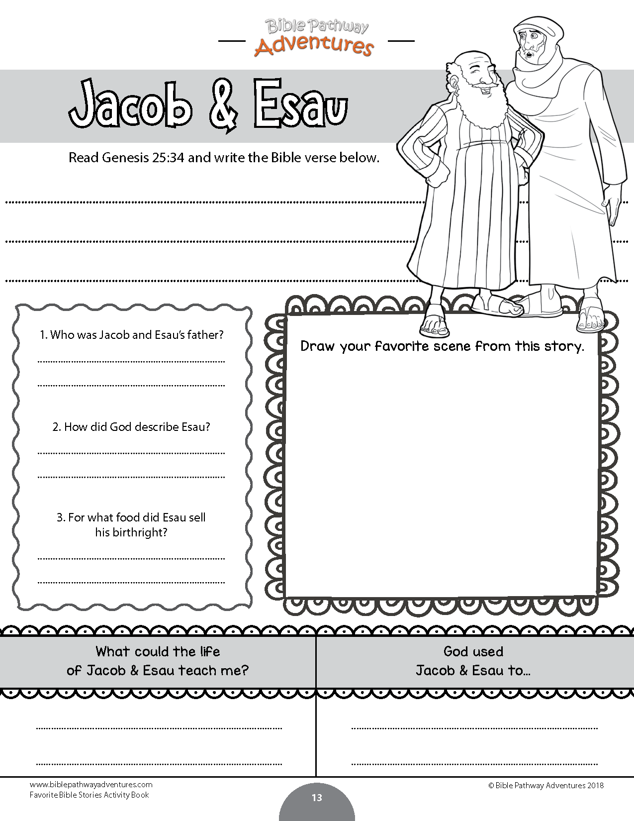 James Bible Preschool Worksheet