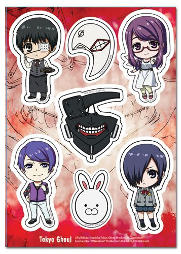 Tokyo ghoul sticker sd characters mask collection