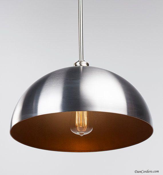 Pendant Light Fixture Copper Edison Bulb Brushed