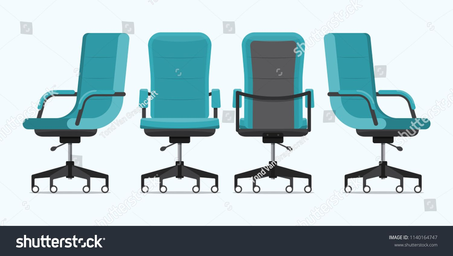 Office Chair Or Desk Chair In Various Points Of View Armchair Or