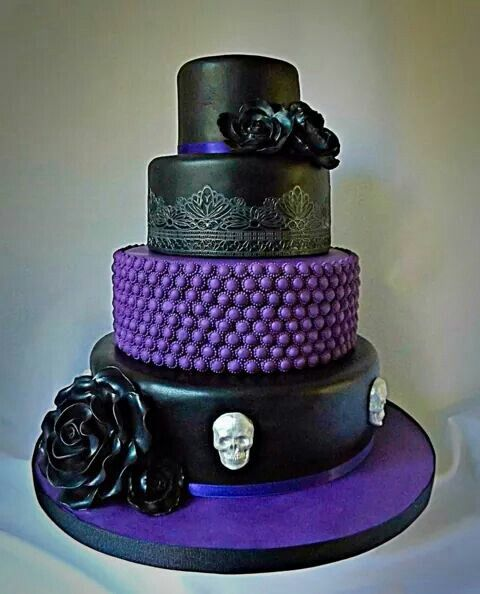 Cake Decorating Idea   Gothic/purple
