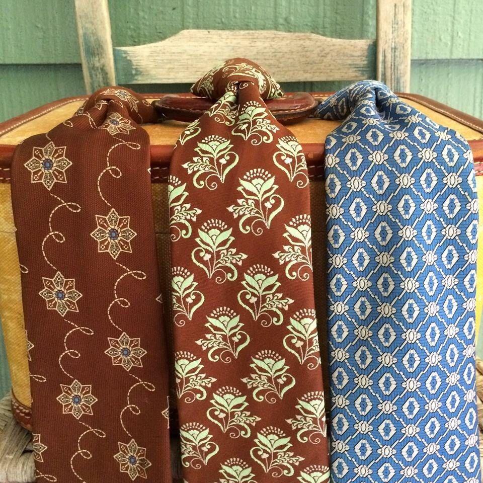 Vintage ties,lot of 3 ties,clip on ties,mens ties,vintage wedding,shabby chic wedding,fall wedding wear,60's,70's,fall neckwear,mens vintage by three20sycamorelane on Etsy https://www.etsy.com/listing/252305590/vintage-tieslot-of-3-tiesclip-on