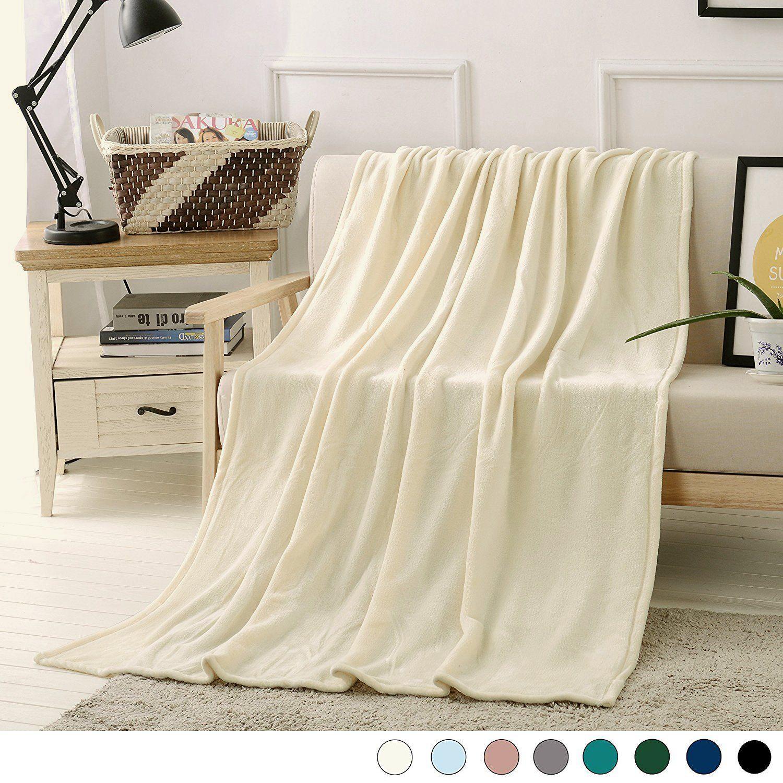 Amazon Luxury Flannel Velvet Plush Throw Blanket 50 X 70