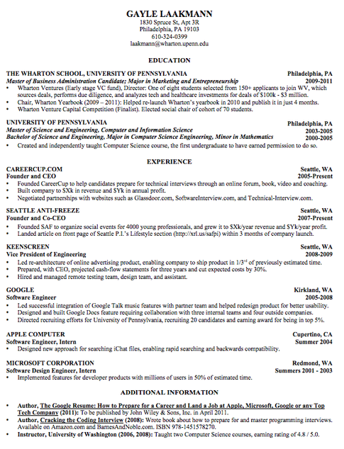 Answer Quora Best resume format, Resume format download