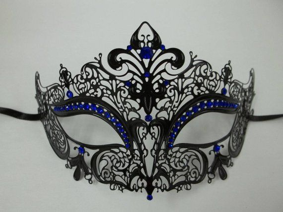 Royal Crown Laser Cut Venetian Masquerade Metal Filigree Party Ball Event Mask