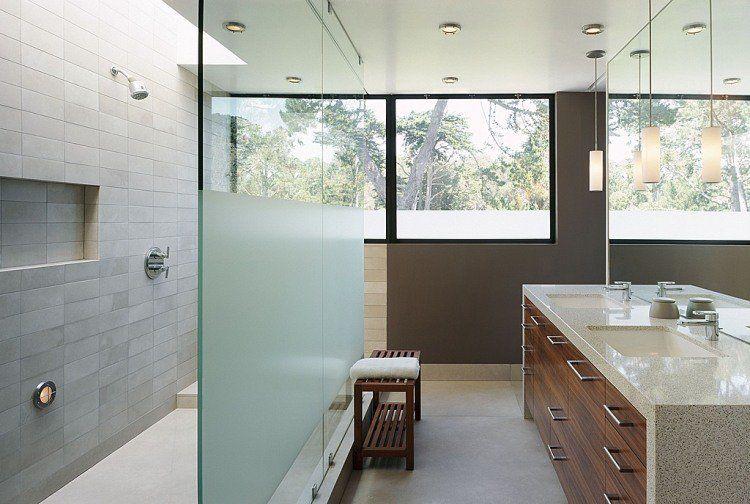 Meuble salle de bains bois, carrelage et déco en 105 idées! House
