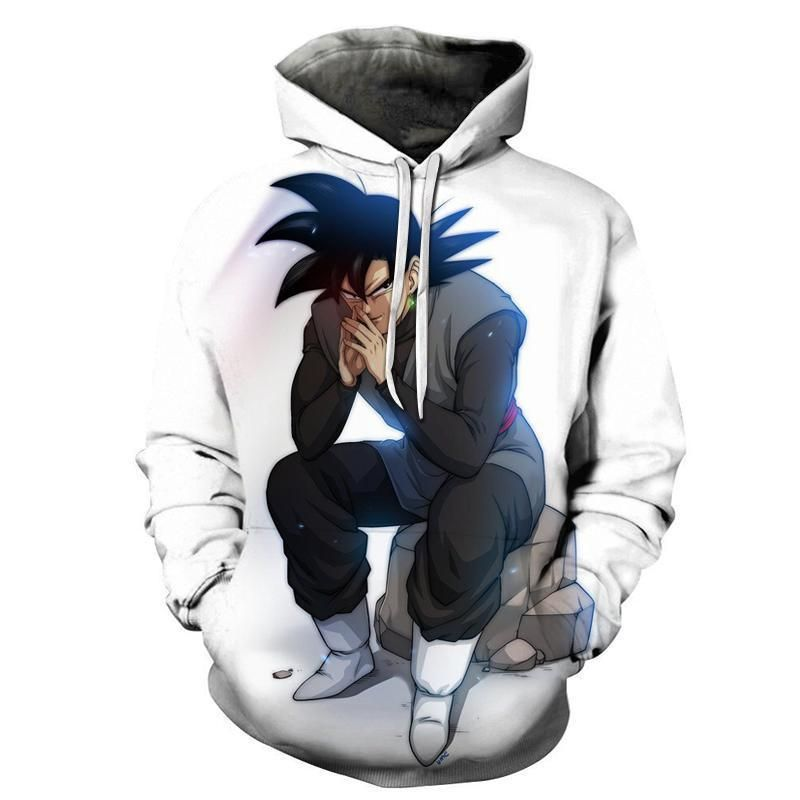 Dragon Ball Z Hoodies Super Saiyan Goku White Pull Over Hoodie Dragon Ball Z Jacket Sweatshirts Hoodie Goku Black Hoodies
