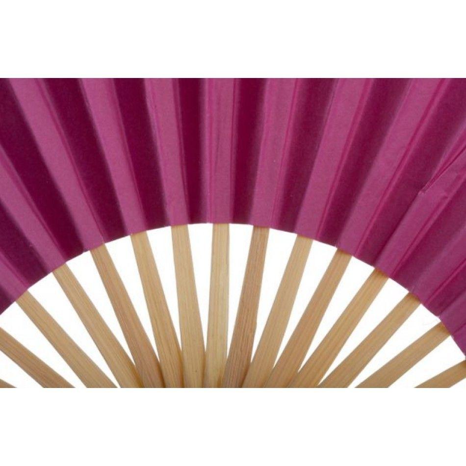 Folding Paper Fans - Pink [402116 Pink Wedding Paper Fans ...
