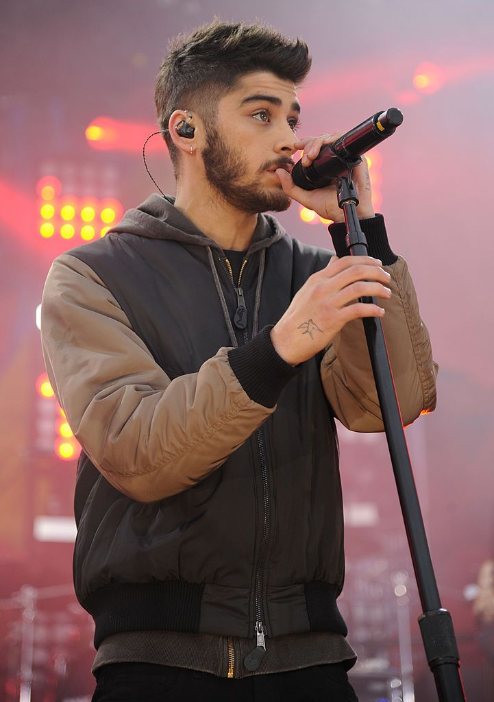 Zayn Malik of One Direction performs on ABC's