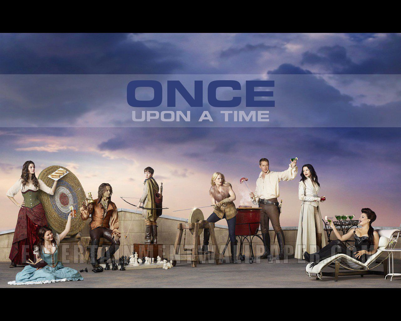 Meghan Ory as Red Riding Hood/Ruby, Emilie de Ravin as Belle, Robert Carlyle as Rumplestiltskin/Mr. Gold, Jared S. Gilmore as Henry Mills, Jennifer Morrison as Emma Swan, Josh Dallas as Prince Charming/David Nolan, Ginnifer Goodwin as Snow White/Mary Margaret Blanchard, and Lana Parrilla as The Evil Queen/Regina Mills