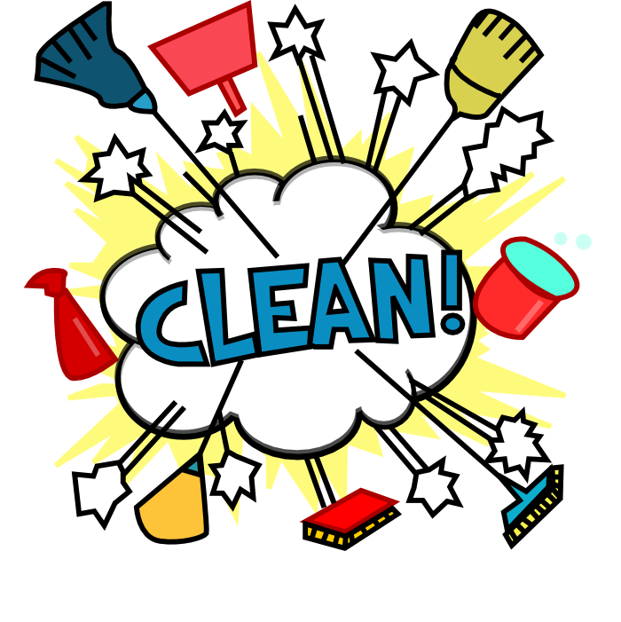 Kitchen Clean Up Cartoon: Cleaning Lady Cartoon - Cliparts.co