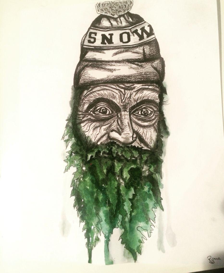 Mountain man forest beard by denver tattoo artist denver