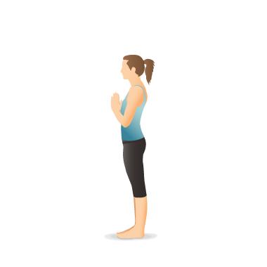 yoga pose mountain tāḍāsana in 2020  poses yoga poses