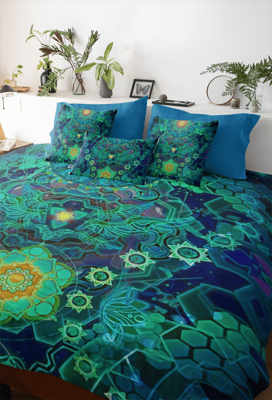 Cosmic Deconstruction Bedding Set In 2020 Bed Bedding Sets