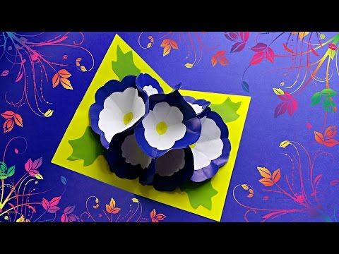 Diy 3d flower pop up card tutorial this tutorial video on how to diy 3d flower pop up card tutorial this tutorial video on how to make m4hsunfo