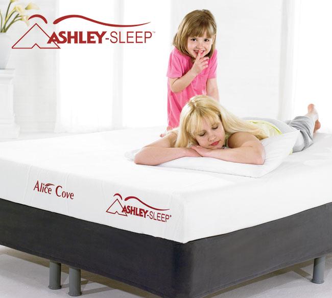 Colchón Alice Cove - Shhh...no querrás alejarte de la comodidad de los colchones Ashley Sleep