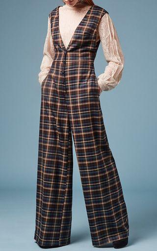 Check Wool Jumpsuit by ANNA SAMMARONE for Preorder on Moda Operandi