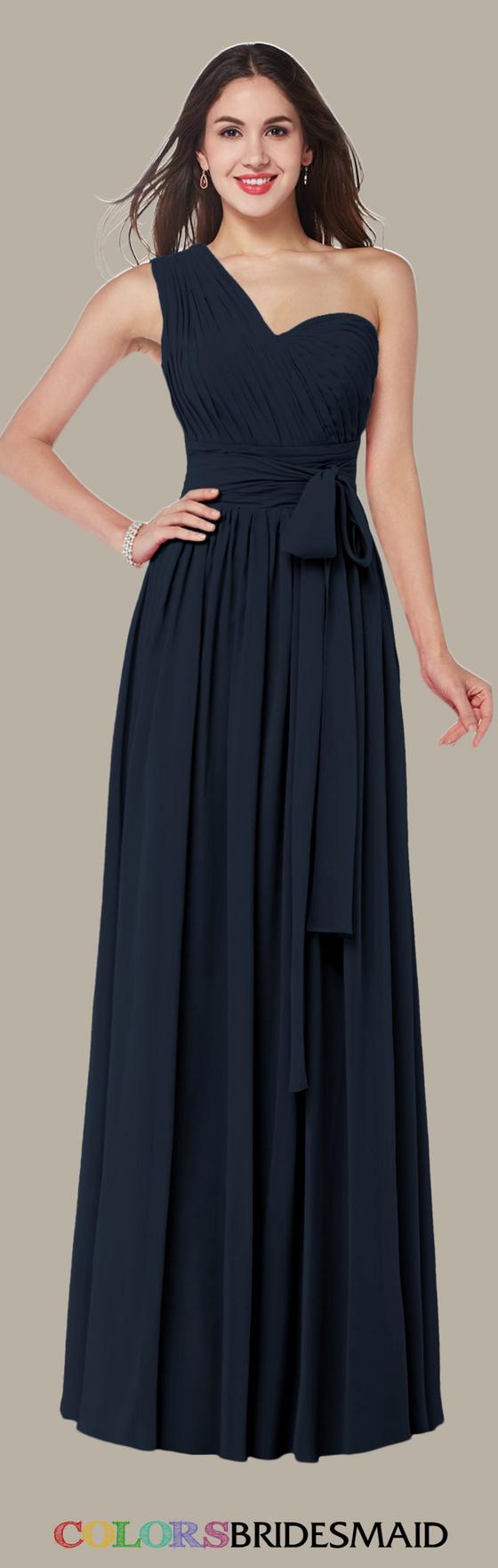 Colsbm emmeline navy blue color long bridesmaid dresses and