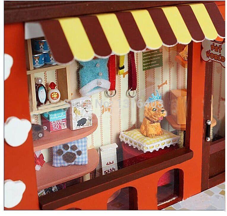 Pet shop mundial diy dollhouse miniture mu ecas muebles de - Casas de madera para ninos ...