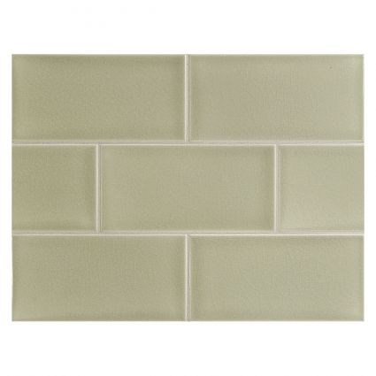 Our New Kitchen Backsplash Tile Manhattan Tile Botanical Green Sans Crackle With Images Ceramic Tiles Fabric Tiles Tiles
