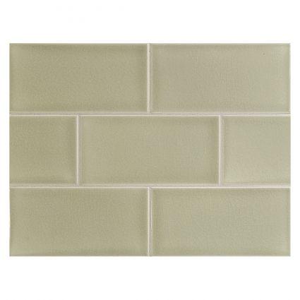 Our New Kitchen Backsplash Tile Manhattan Tile Botanical Green Sans Crackle With Images Ceramic Tiles Fabric Tiles Tiles