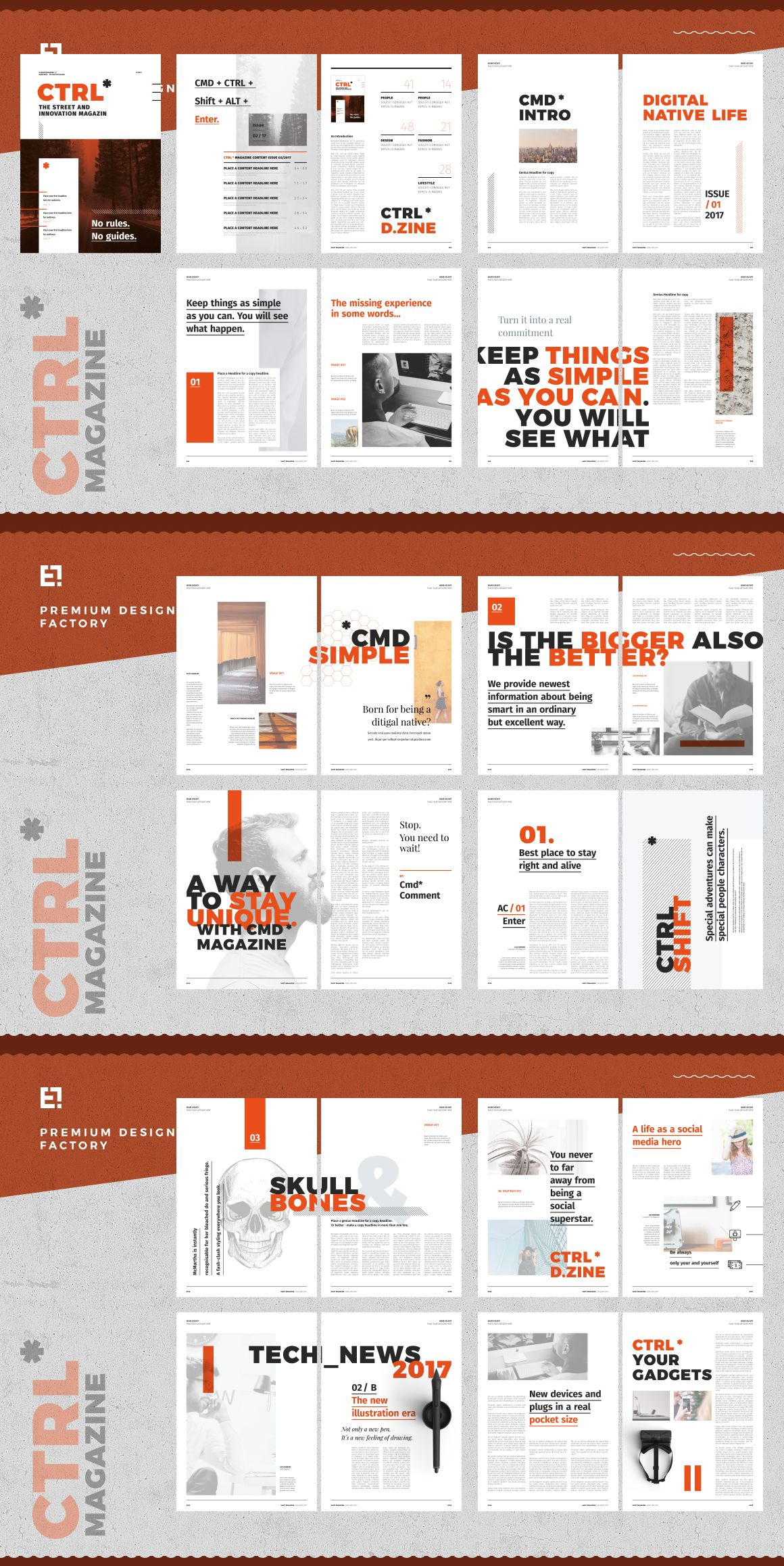 Ctrl Magazine TemplateA 40 page multi-purpose Indesign magazine ...