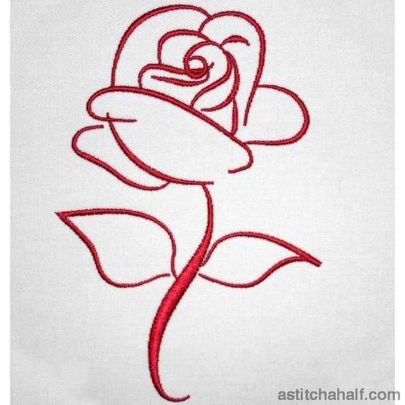 The Rose In 2021 Machine Embroidery Designs Embroidery Patterns Embroidery Designs