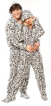 Matching Couples  Pajamas  Dalmatian Footed Pajamas  68dca34d8