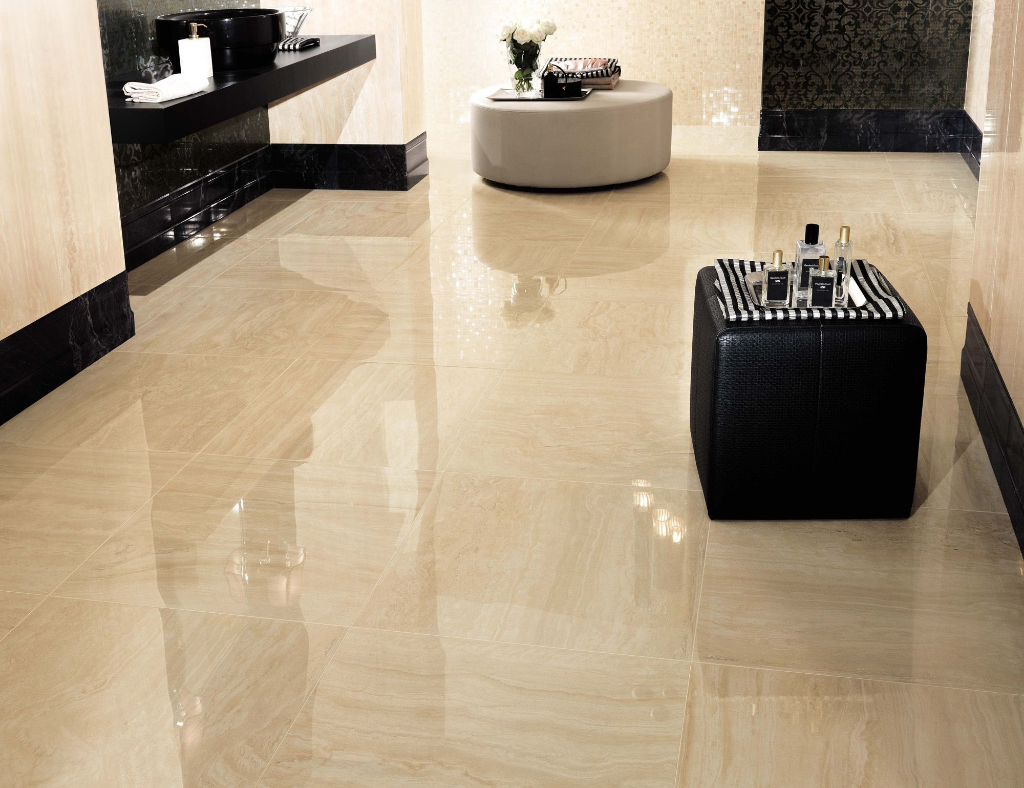 Minoli tiles this stylish tile is travertino albastrino lappato beige travertine porcelain tiles are the best solution for a classic beautiful marble look evolution marvel is available matt and polished and in big sizes dailygadgetfo Gallery