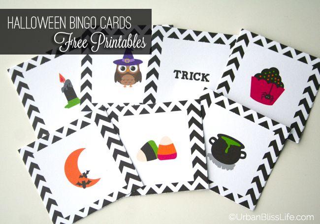 DIY Bliss FREE Halloween Bingo Card Printables Halloween bingo - halloween decoration printables