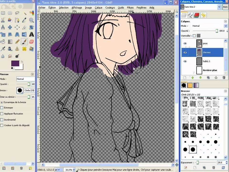 Tuto Coloriser Un Personnage Avec Gimp Partie 2 A