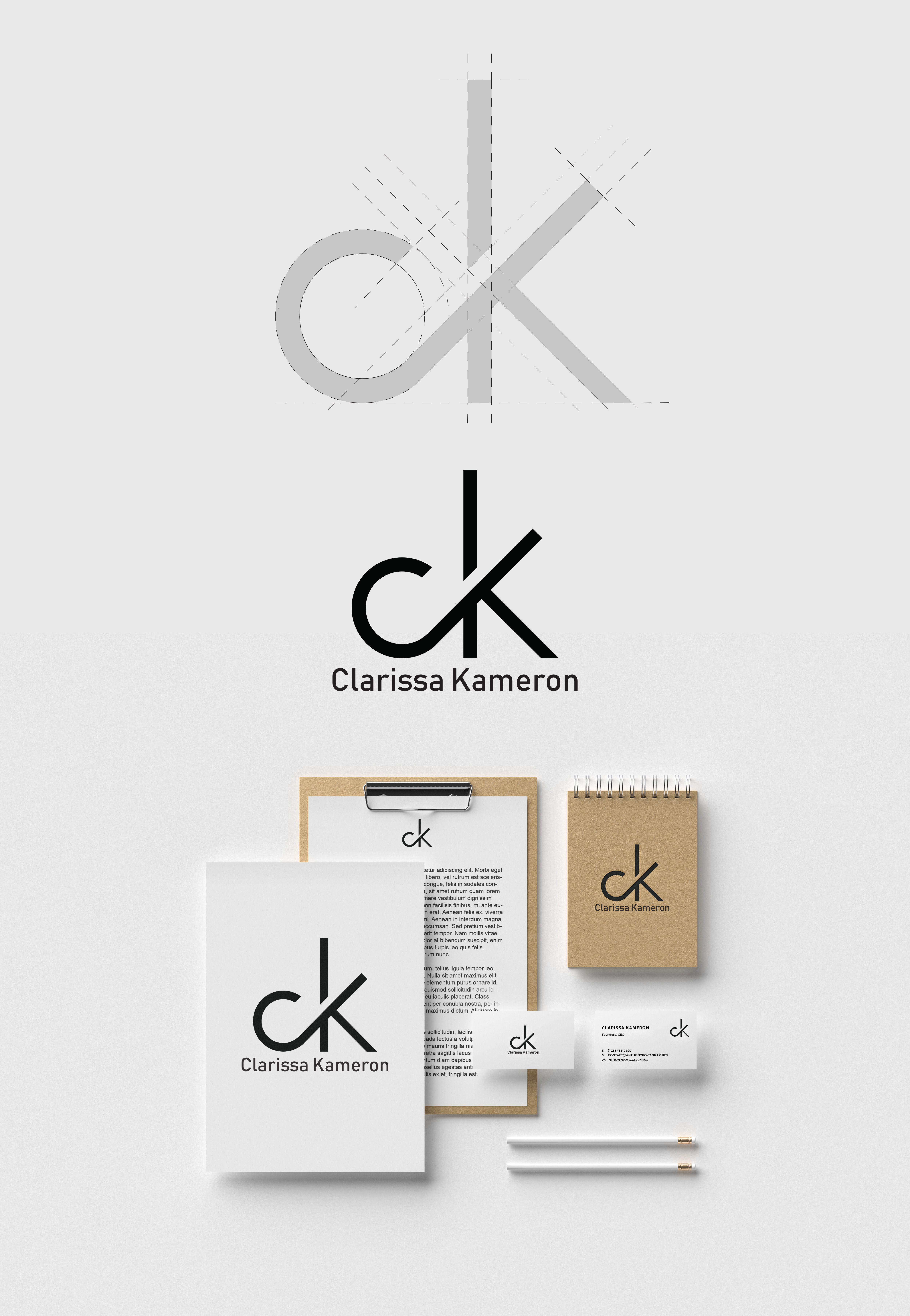 Vedi Questo Progetto Behance Ck Monogram Logo Https Www