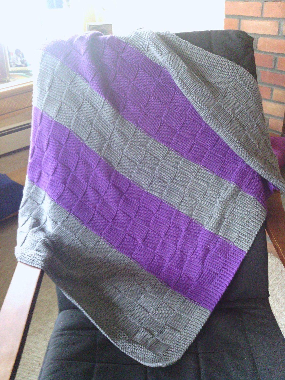 Organic Cotton Hand Knit Baby Blanket - Custom Order | Knitting ...