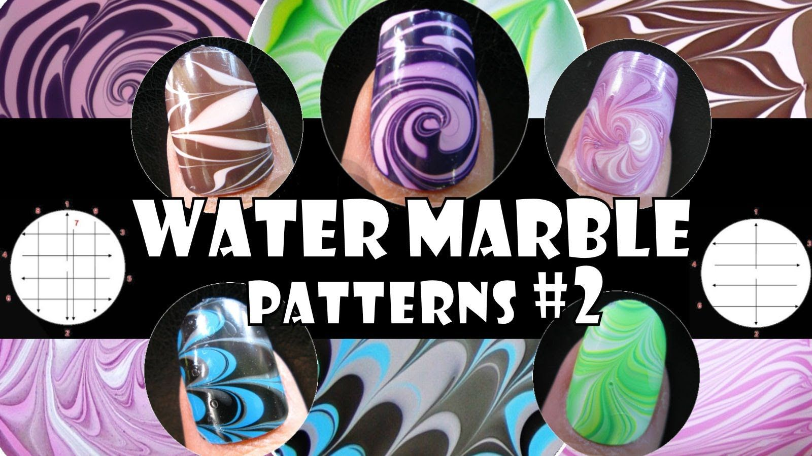 Water Marble Patterns 2 How To Basics Nail Art Design Tutorial