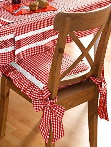 Mantel y cojines para las sillas | MANUALIDADES | Pinterest | Mantel ...