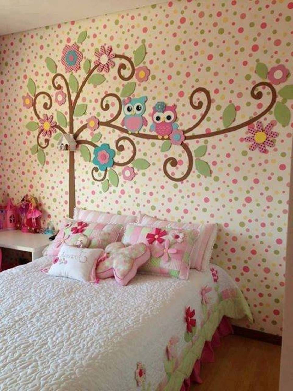 Cute girls bedroom design little girls bedroom design for Pretty bedroom accessories
