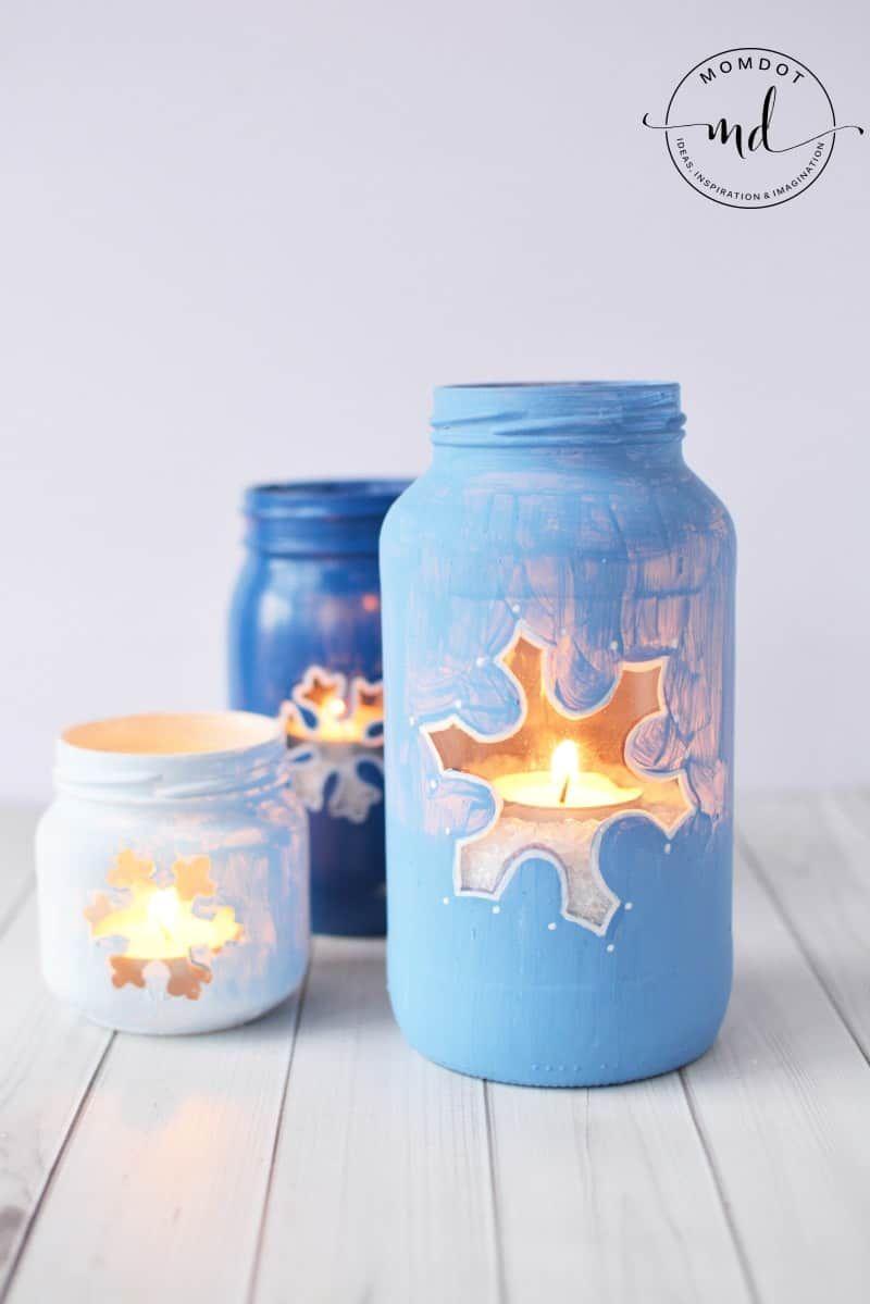 Snowflake Mason Jar Diy Christmas Mason Jar Tutorial Mason Jar Christmas Crafts Christmas Mason Jars Christmas Jars