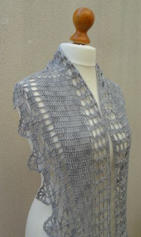 Pattern Pdf Marine shawl crochet di Fluxcreativite su Etsy