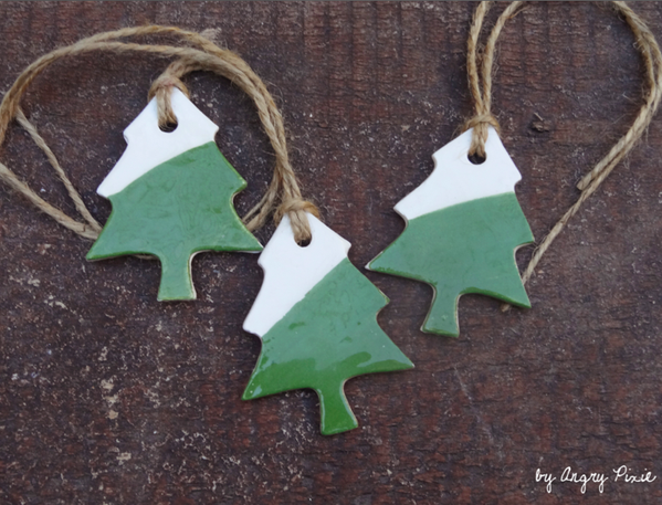 Ceramic Christmas Tree Decorations.These Handmade Ceramic Christmas Tree Decorations By Angry