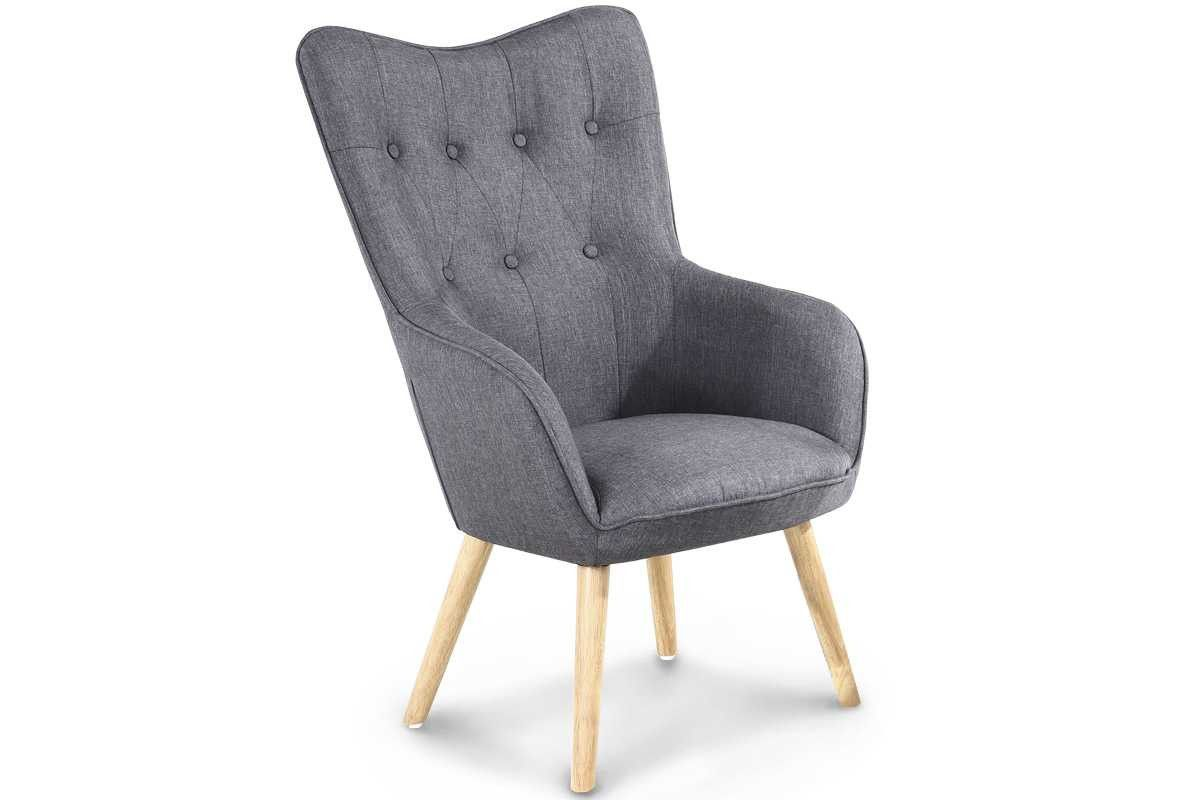 Best Alton Modern Charcoal Grey Fabric Occasional Accent Chair 400 x 300