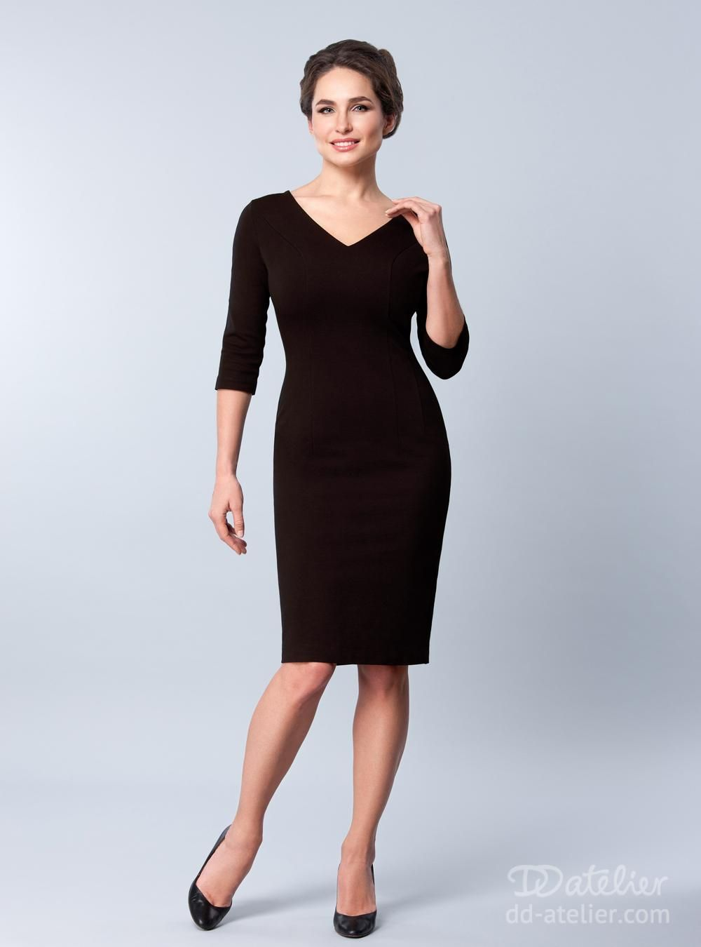 Dress Sienna in Brown, for a big bust #DDatelierChristmas