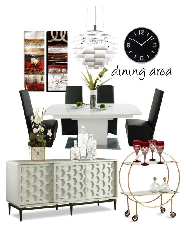 """dining area"" by iszann on Polyvore featuring interior, interiors, interior design, home, home decor, interior decorating, Art for Life, Giorgio Armani, Lemnos and Arteriors"