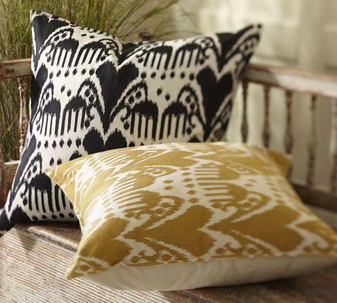 Kasari Ikat Embroidered Pillow Cover | Pottery Barn