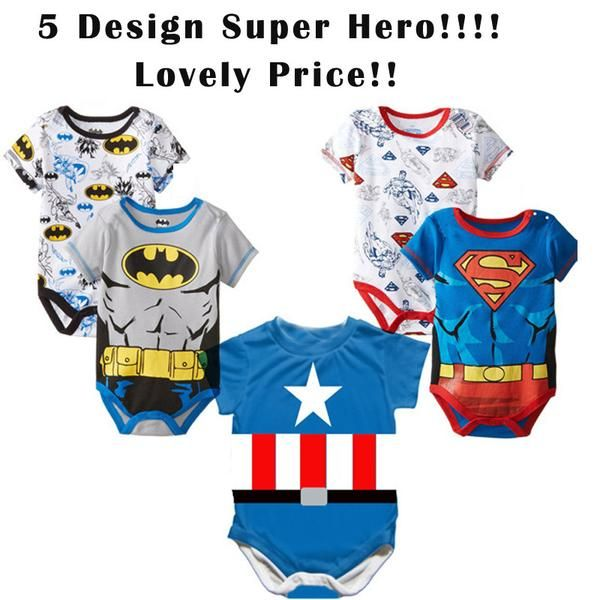 Twins Eshop Super Hero Baby Rompers Twinssss Unique Stuff