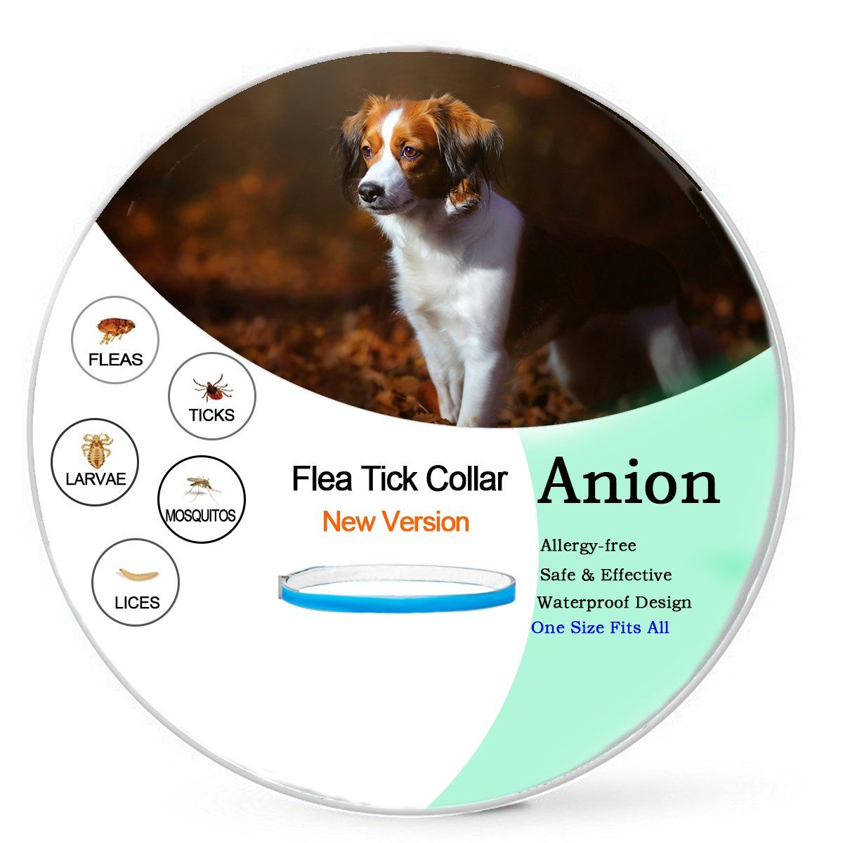 Anion Flea Tick Collar For Dogs And Cats Blue Repel Flea And Tick Tick Prevention Cat Collars