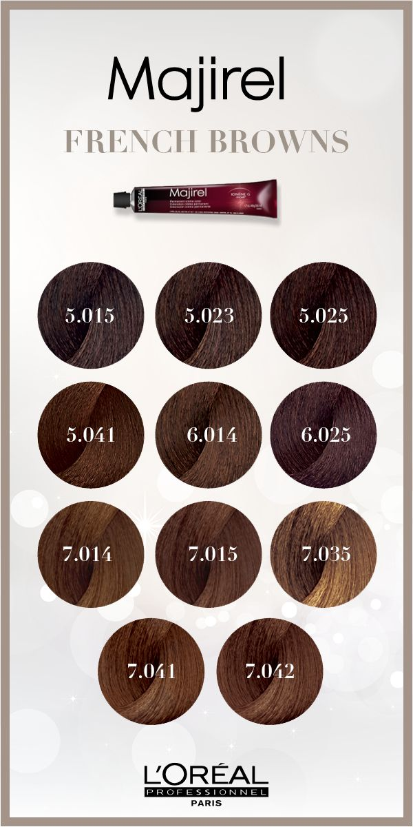 Majirel French Brown Hair Color Is Permanent And Allows You To Create A Wide Variety Of Brune Loreal Hair Color Brown Loreal Hair Color Loreal Hair Color Chart