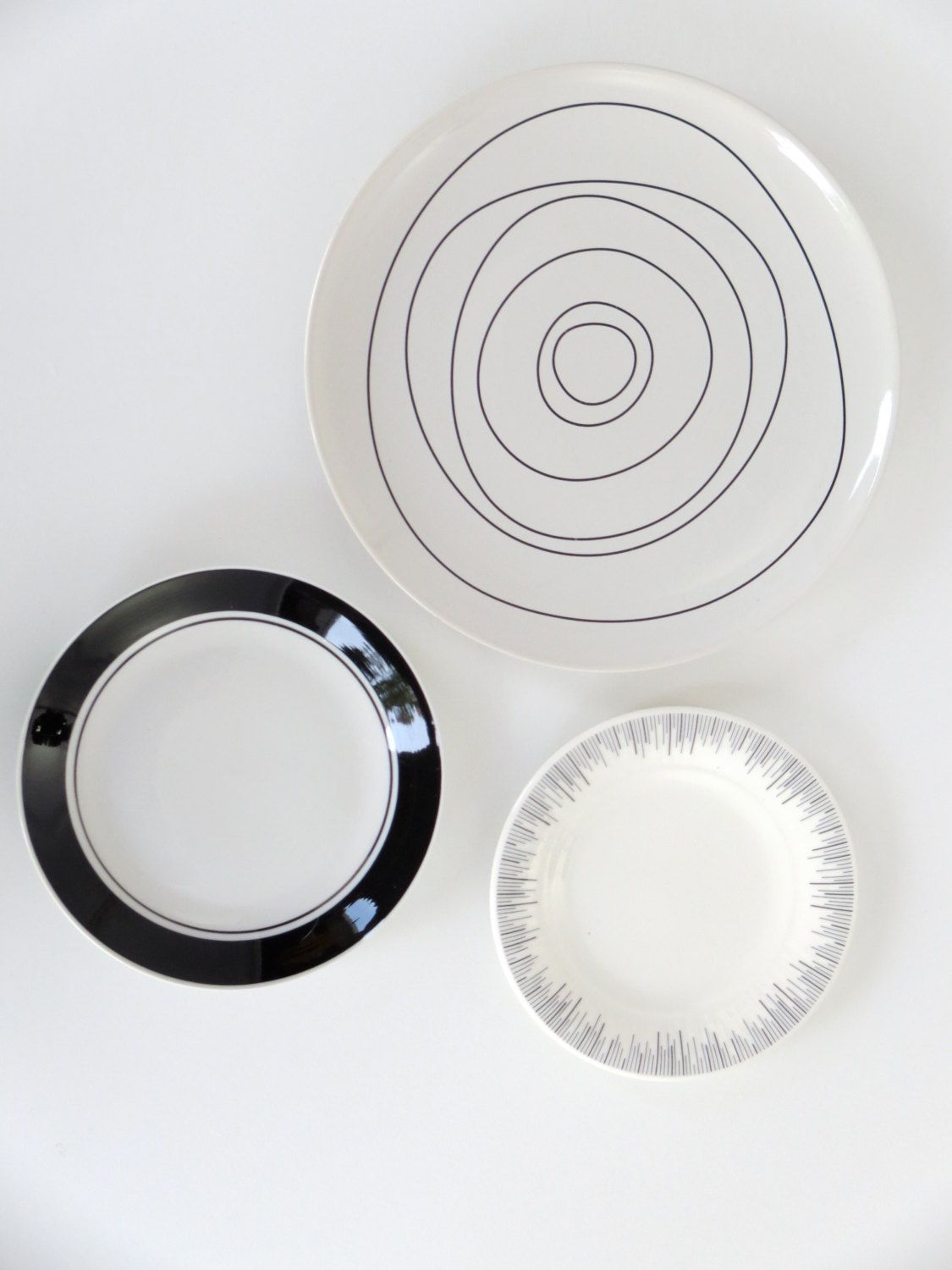 Kitchen Wall Decor, Decorative Plates Modern Abstract Decor Dining ...