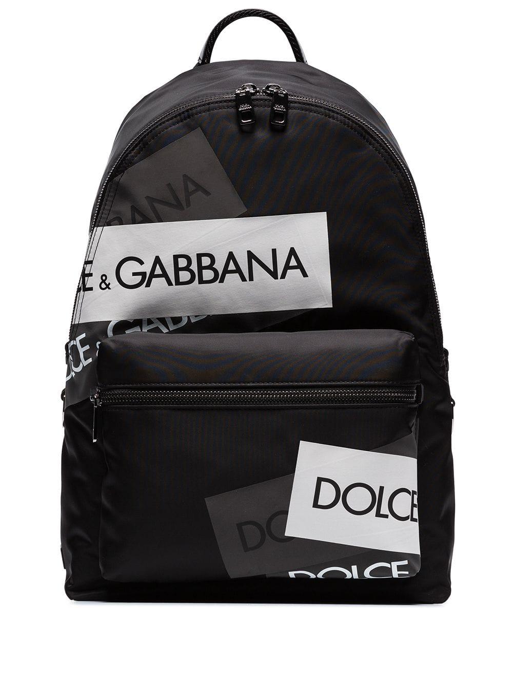 Dolce & Gabbana Volcano logo tape backpack Black