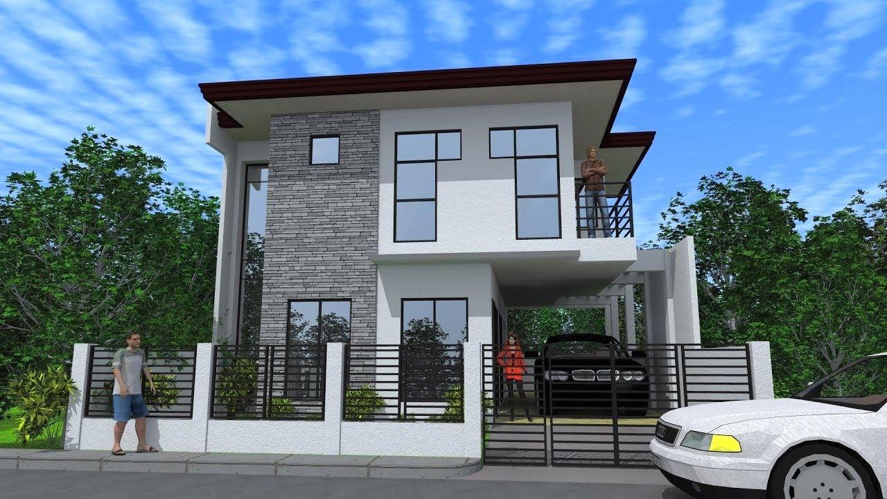 18 Fachadas de casas modernas de 2 pisos